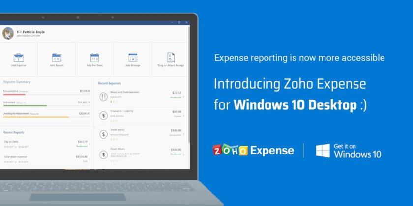 Zoho Expense. notes de frais