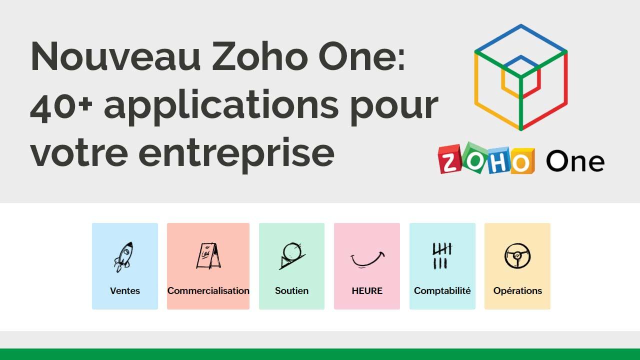 Nouveau Zoho One: 40 applications pour votre entreprise