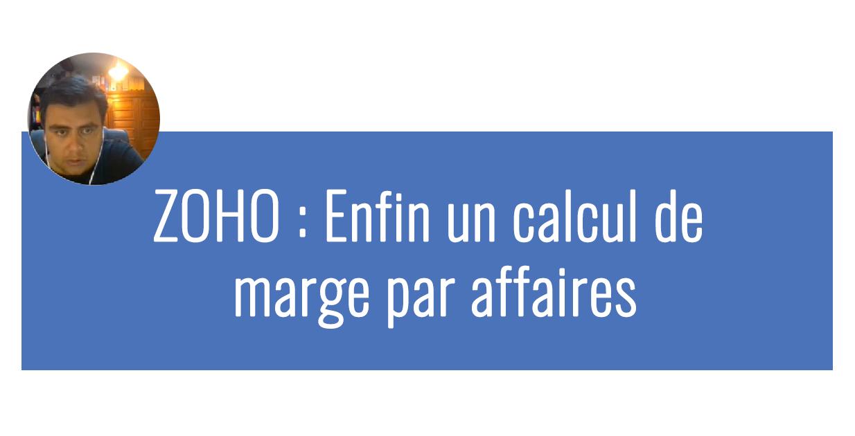 ZOHO Calcul de marge