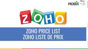 ZOHO PRICE -PRIX ZOHO