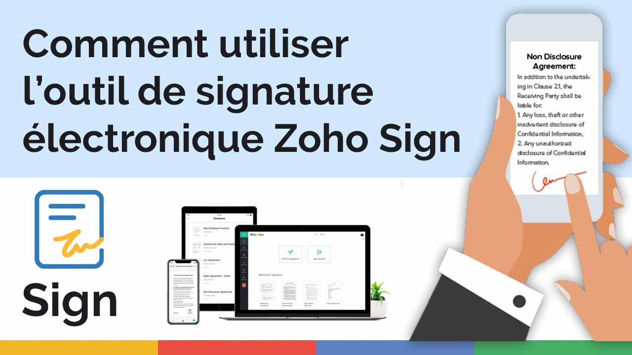 Comment utiliser l'outil de signature électronique Zoho Sign