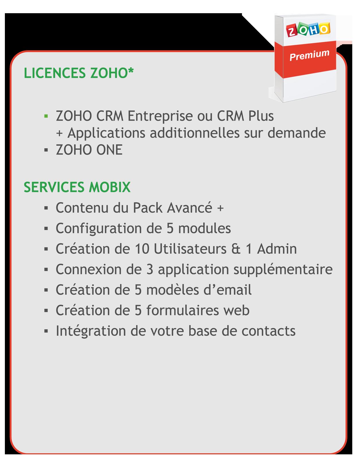 CRM-ZOHO-premium-details update