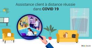 Service client au milieu de COVID 19