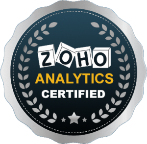 ZOHO ANALYTICS CERTIFICATE'S BADGE