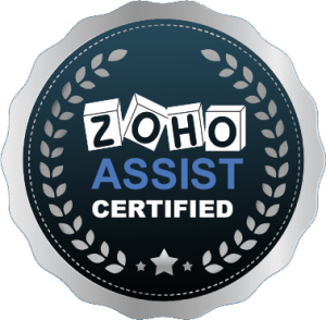 ZOHO ASSIST CERTIFICATE'S BADGE