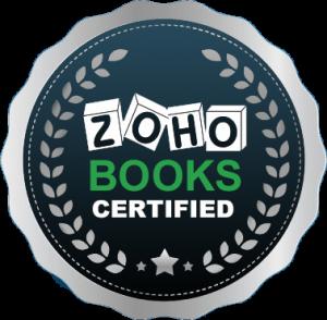 ZOHO BOOKS CERTIFICATE'S BADGE