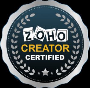 ZOHO CREATOR CERTIFICATE'S BADGE