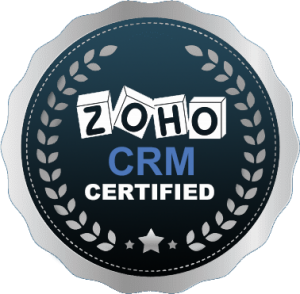 ZOHO CRM CERTIFICATE'S BADGE