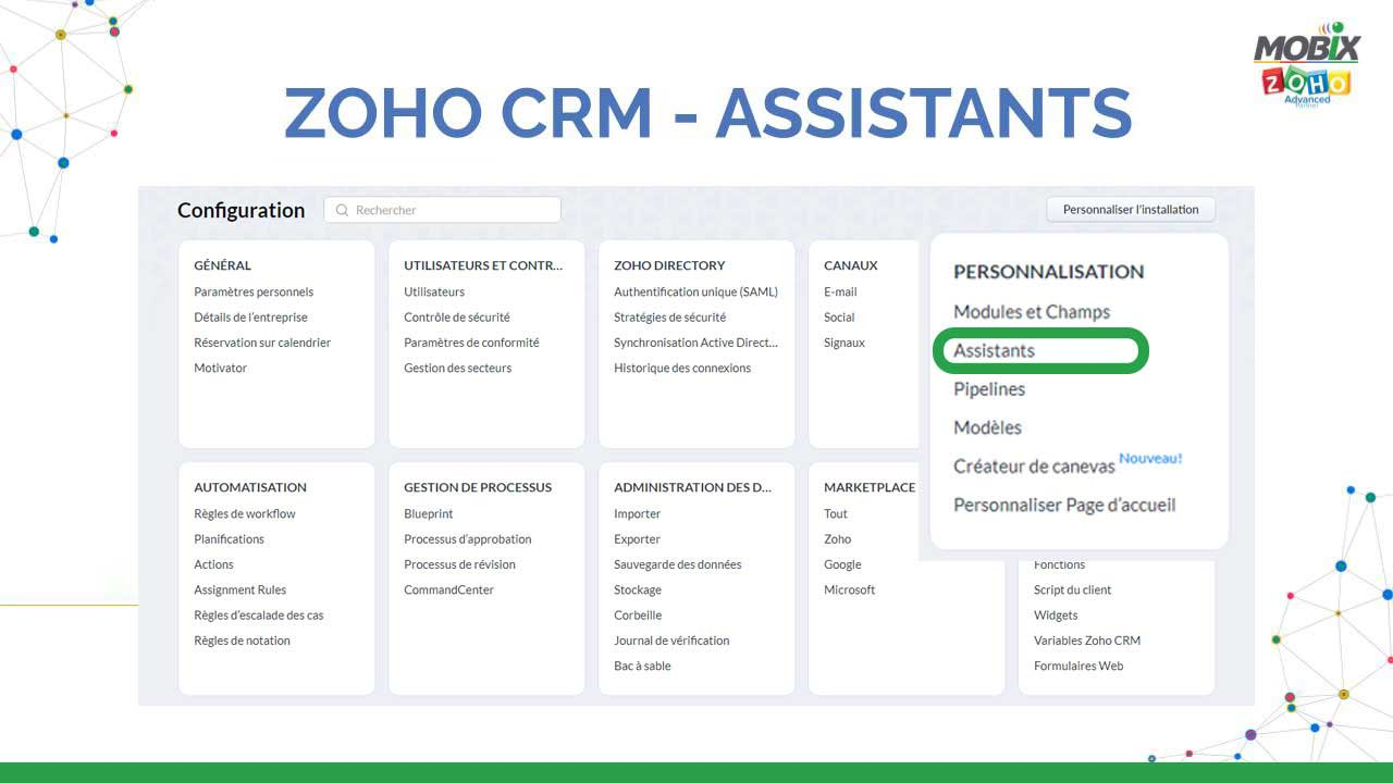 ZOHO CRM - ASSISTANTS