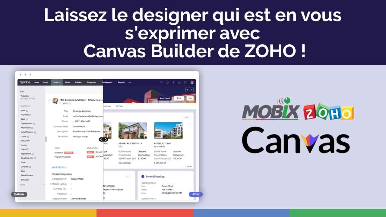 Laissez le designer qui est en vous s'exprimer avec Canvas Builder de Zoho