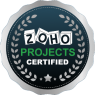 ZOHO PROJECTS CERTIFICATE'S BADGE