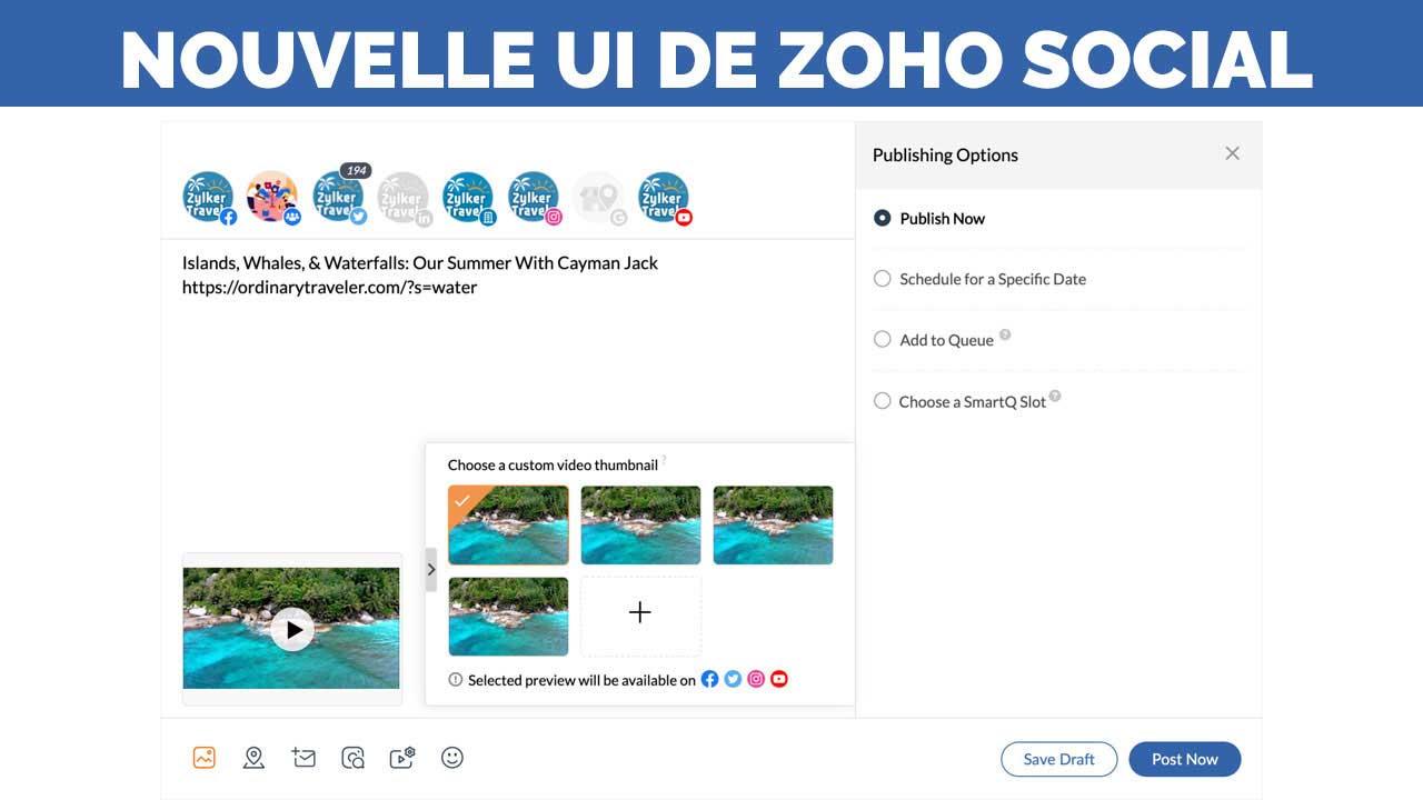 ZOHO Social : Une nouvelle interface plus efficace que jamais